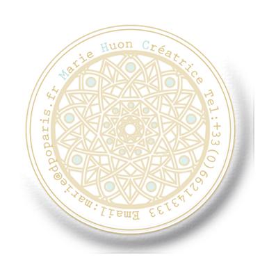 Super De Paillettes et d'Or Logo et carte de visite – Amandine B. KN26