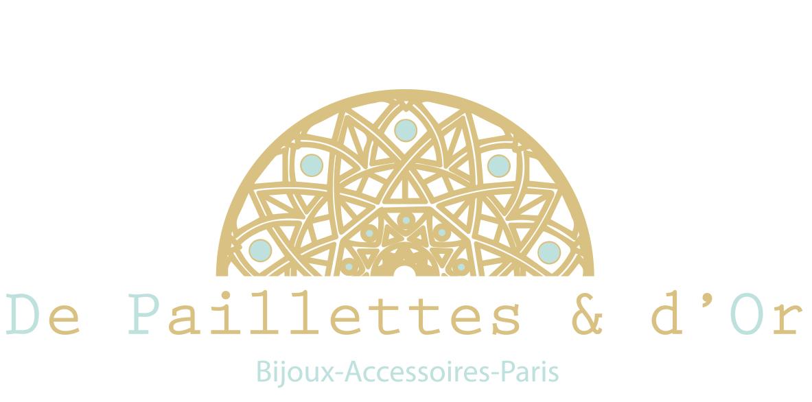 De Paillettes Et DOr Logo Carte Visite Amandine B